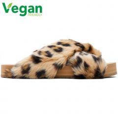 Toms Womens Susie Vegan Slippers - Natural Leopard