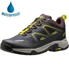 Helly Hansen Mens Cascade Low HT Waterproof Walking Shoes - Storm Sweet Lime