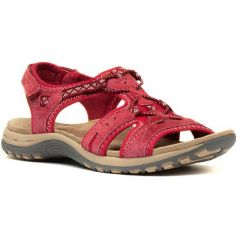 Earth Spirit Womens Fairmont Leather Sandals - Rich Red