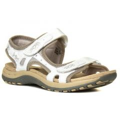 Earth Spirit Womens Frisco Leather Sandals - White