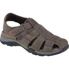 Earth Spirit Mens Kodiak Leather Trainer Sandals - Stone Brown