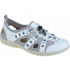 Earth Spirit Womens Winona Leather Trainer Sandals - White