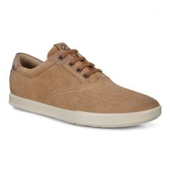 Ecco Shoes Mens Collin 2.0 Leather Trainers - Camel Dune