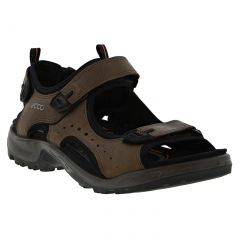 Ecco Shoes Mens Offroad Leather Walking Sandals - Navajo Brown