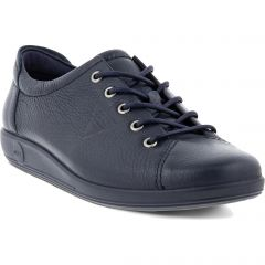 Ecco Shoes Womens Soft 2.0 Leather Shoes - Marine
