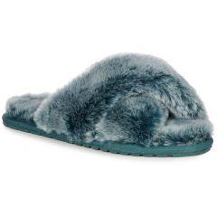 EMU Australia Womens Mayberry Frost Slip On Sheepskin Slippers - Deep Teal
