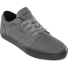 Etnies Mens Barge LS Skate Shoes - Dark Grey Black Gum