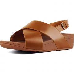 Fitflop Womens Lulu Cross Back Strap Sandals - Light Tan