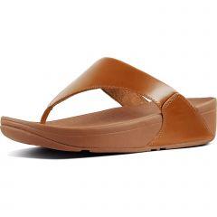 Fitflop Womens Lulu Leather Toe Post Sandals - Light Tan