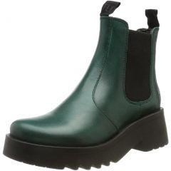 Fly London Womens Medi Chelsea Ankle Boots - Shamrock Green
