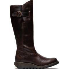 Fly London Womens Mol 2 Knee High Wedge Boots - Dark Brown