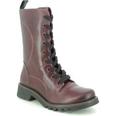 Fly London Womens Reba Tall Leather Ankle Boots - Purple