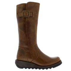 Fly London Womens Shap GTX Waterproof Wedge Boots - Camel