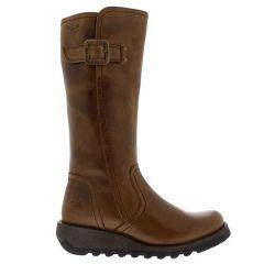Fly London Womens Shap GTX Waterproof Wedge Boots - Camel