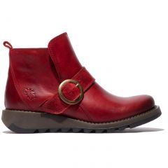 Fly London Womens Sias Ankle Boot - Red