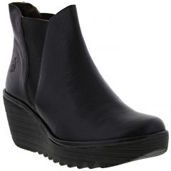 Fly London Womens Yoss Platform Wedge Ankle Chelsea Boots