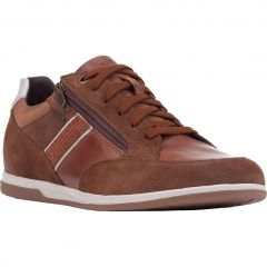 Geox Mens Renan D Breathable Trainers - Brown Cotto