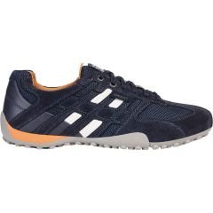 Geox Mens Snake K Breathable Trainers - Navy
