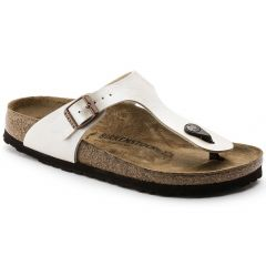 Birkenstock Womens Gizeh Regular Fit Sandals - Graceful Pearl White