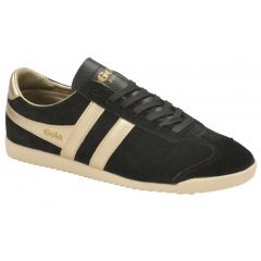 Gola Womens Bullet Pearl Classics Suede Trainers Shoes - Black