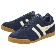 Gola Mens Harrier Classics Suede Trainers Shoes - Navy White
