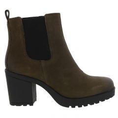Vagabond Womens Grace Chunky Ankle Boot - Dark Olive