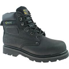 Grafters Mens Gladiator Steel Toe Cap Safety Work Boots - Black