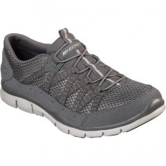 Skechers Womens Gratis Strolling Wide Fit Trainers - Charcoal