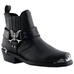 Grinders Mens Eagle Lo Western Boots - Black