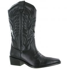 Gringos Woodland Mens Clive Hi Cowboy Western Boots - Black