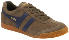 Gola Mens Harrier Classic Trainers - Khaki Navy