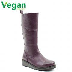 Heavenly Feet Womens Robyn 3 Vegan Boots - Purple