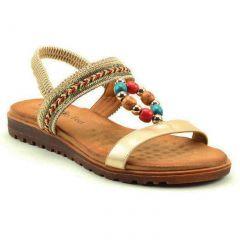 Heavenly Feet Womens Constance Sandals - Gold