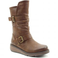 Heavenly Feet Womens Hannah 2 Vegan Boots - Chocolate