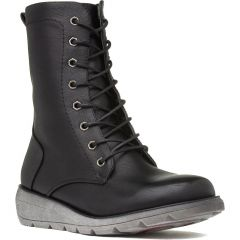 Heavenly Feet Womens Martina 2 Vegan Boots - Black