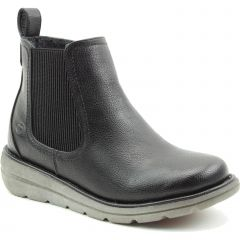 Heavenly Feet Womens Rolo 4 Chelsea Boots - Black