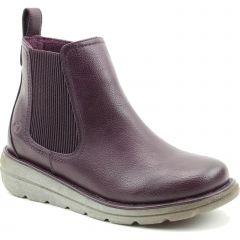 Heavenly Feet Womens Rolo 4 Chelsea Boots - New Purple