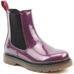 Heavenly Feet Womens Saint Chelsea Boots - Purple Glitter