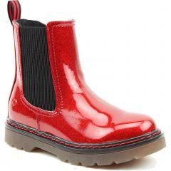 Heavenly Feet Womens Saint Chelsea Boots - Red Glitter