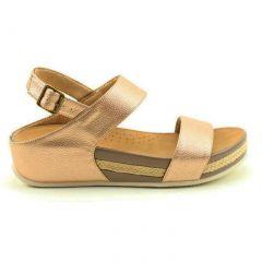 Heavenly Feet Womens Vicky Platform Wedge Sandals - Rose Gold