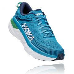 Hoka One One Mens Bondi 7 Road Running Shoes - Blue Moon Moonlit Ocean