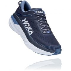 Hoka One One Mens Bondi 7 WIDE FIT Road Running Shoes - Ombre Blue Provincial Blue