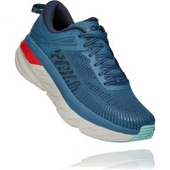 Hoka One One Mens Bondi 7 Wide Fit Running Shoes - Real Teal Outer Space