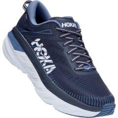 Hoka One One Mens Bondi 7 Road Running Shoes - Ombre Blue Provincial Blue