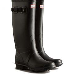 Hunter Womens Huntress Wide Fit Wellington Boots - Black