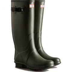 Hunter Womens Huntress Wide Fit Wellington Boots - Dark Olive
