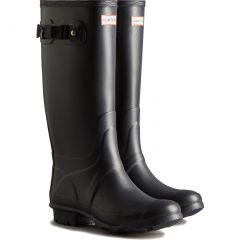 Hunter Womens Huntress Wide Fit Wellington Boots - Navy
