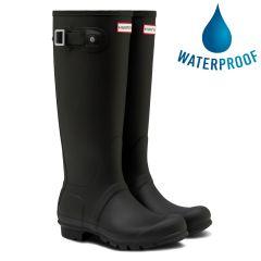 Hunter Mens New Original Tall Wellies Rain Boots - Black
