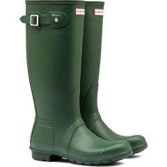 Hunter Womens Original Tall Wellington Boots - Hunter Green