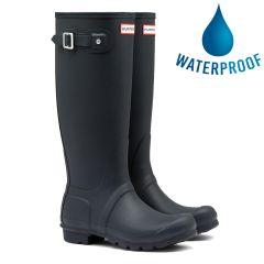 Hunter Mens New Original Tall Wellies Rain Boots - Navy
